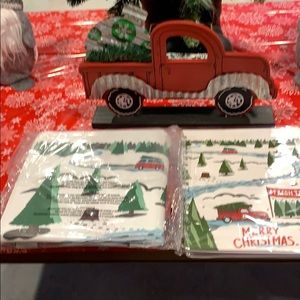 COPY - Brand New., 3pc Red truck gift set.